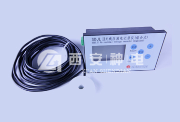 Discharge recorder without residual voltage